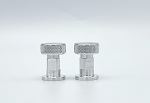 Aluminum Knurled Knobs For Adflo Pipeliner Headgear